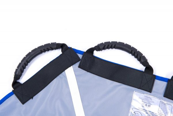 Close up of two black straps on ProMove hoist sling for disabled young adults over 12