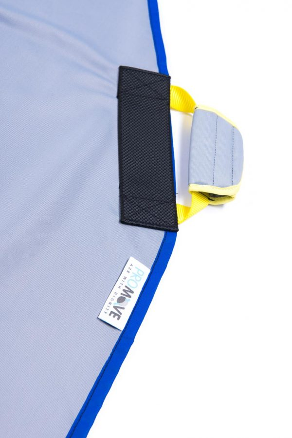 Close up of strap on ProMove hoist sling for disabled young adults over 12