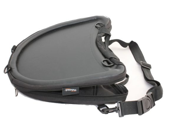 Trabasack Curve wheelchair lap tray and bag with shoulder strap