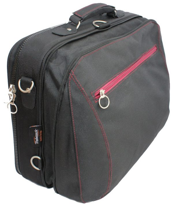 Trabasack Max expandable wheelchair bag side on