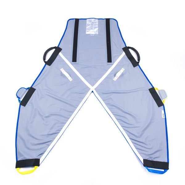 Back of grey ProMove hoist sling with head support for disabled young adults over 12