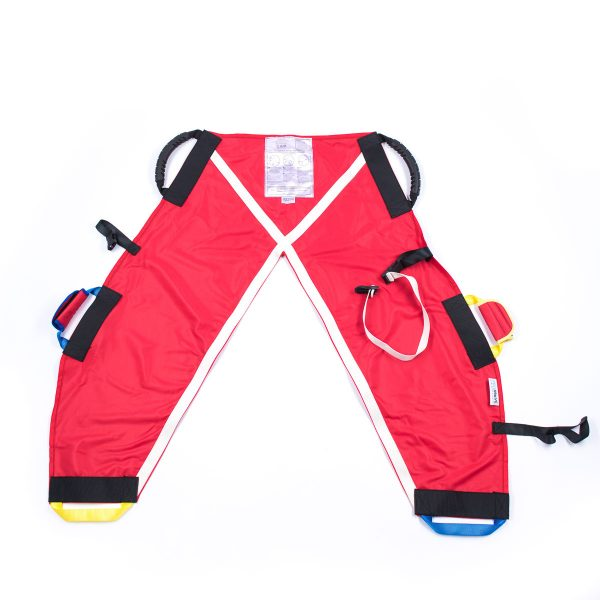 Back of red ProMove hoist sling for disabled children and young adults