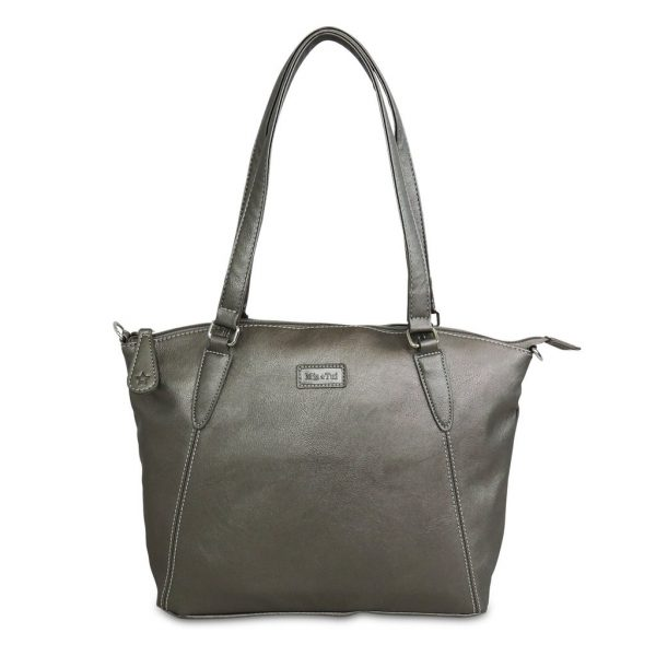 Sam Renke handbag in metallic grey
