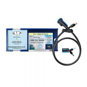 Large blue badge anti-theft device