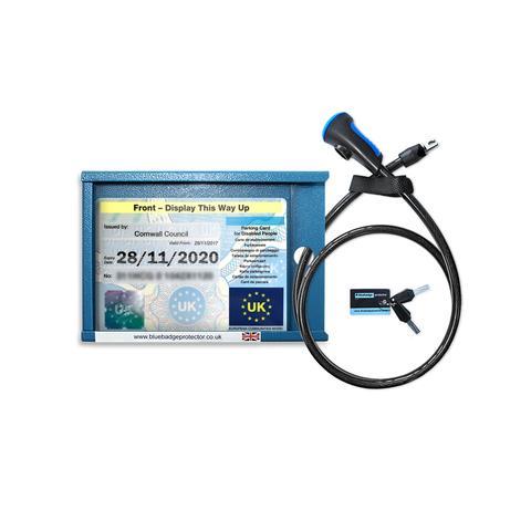 Single blue badge anti-theft device