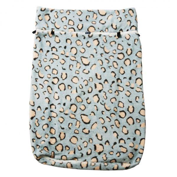 Seenin fleece wheelchair leg cover leopard print