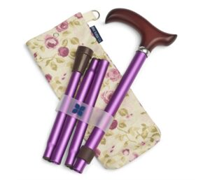 Purple Walking Stick and Mulberry Bag