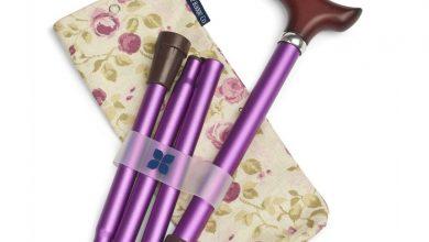 Photo of Stylish folding walking stick and bag