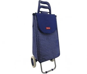Navy Cool Bag Shopping Trolley