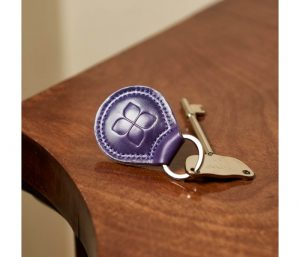 RADAR Key with Leather Keyring in Purple