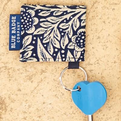 William Morris Marigold Indigo Key ring & Radar Key